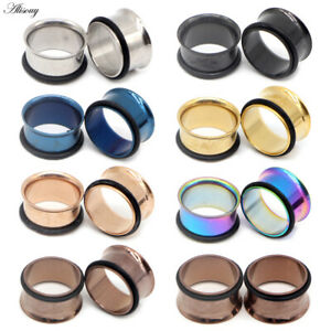 PAIR-Ear-Tunnels-Ear-Gauges-STAINLESS-STEEL-Ear-Stretching-Tunnel-Ear-Plugs