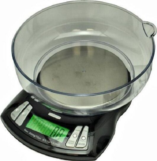 RTEC-2000 ELECTRONIC DIGITAL SCALES 2000g X 0.1g IDEAL KITCHEN SCALES (30) 7749)