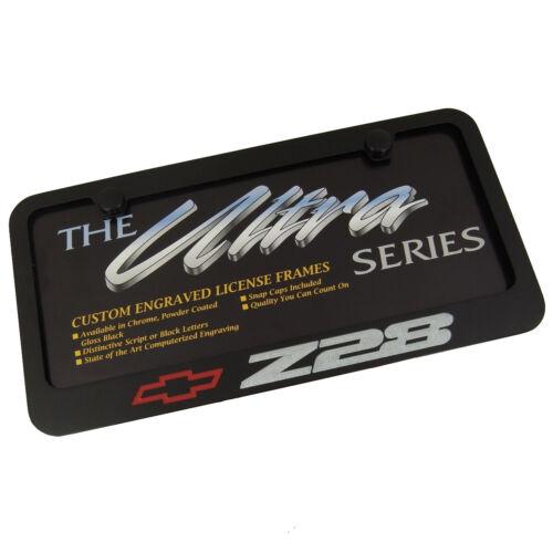 Chevy Z28 Black License Plate Frame