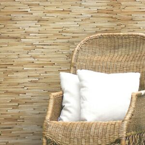 real-natural-bamboo-grasscloth-Wallpaper-wall-coverings-rolls-yellow-brown-3D