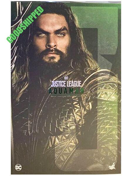 Listo HOT TOYS DC COMICS Liga De La Justicia Aquaman Jason Momoa MMS447 Menta en Caja Sellada Nuevo
