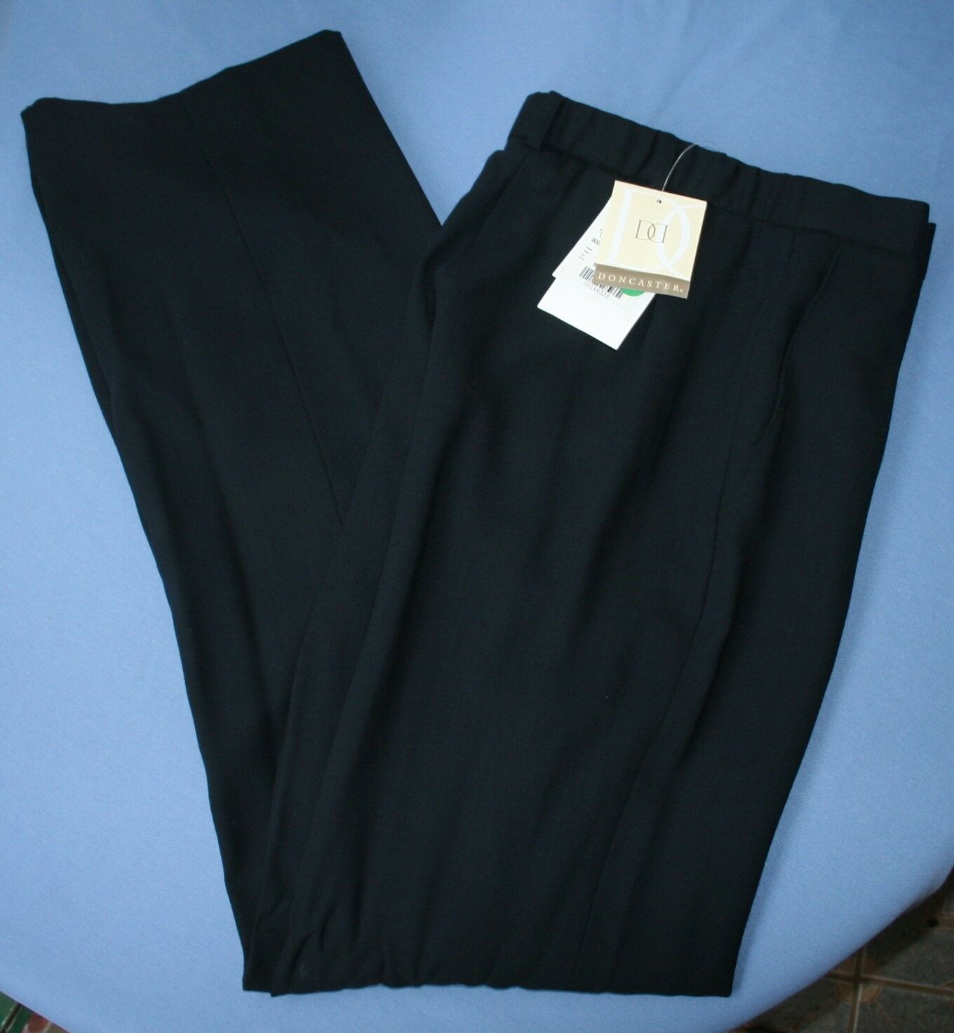 Doncaster Dress Pants Navy bluee Wool Lined Flat Front New NWT Womens Sz 4