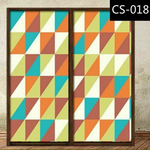 Static Cling Glass Stickers Frosted Stained Window Films Door Closet Home Adorn