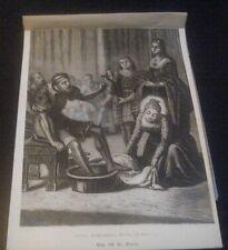 Holy card esheet antique recorded de Santa Matilde Reina estampa santino