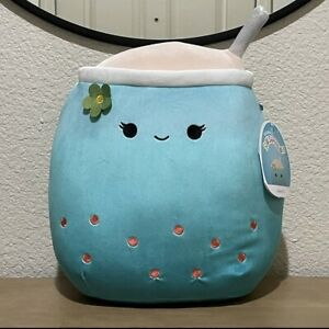 "Jakarria Blue Boba Drink Squishmallow Plush 12"" NWT RARE"