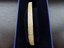 100% Authentic Swarovski Vio Bangle M - 5182116 Gold/Champagne Medium  BNIB