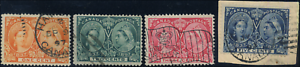 Canada-51-54-used-F-VF-1897-Queen-Victoria-Diamond-Jubilee-Part-Set-cancels