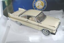 FRANKLIN MINT B11E027 1:24 1957 PLYMOUTH FURY in SAND DUNE WHITE - FREE SHIP
