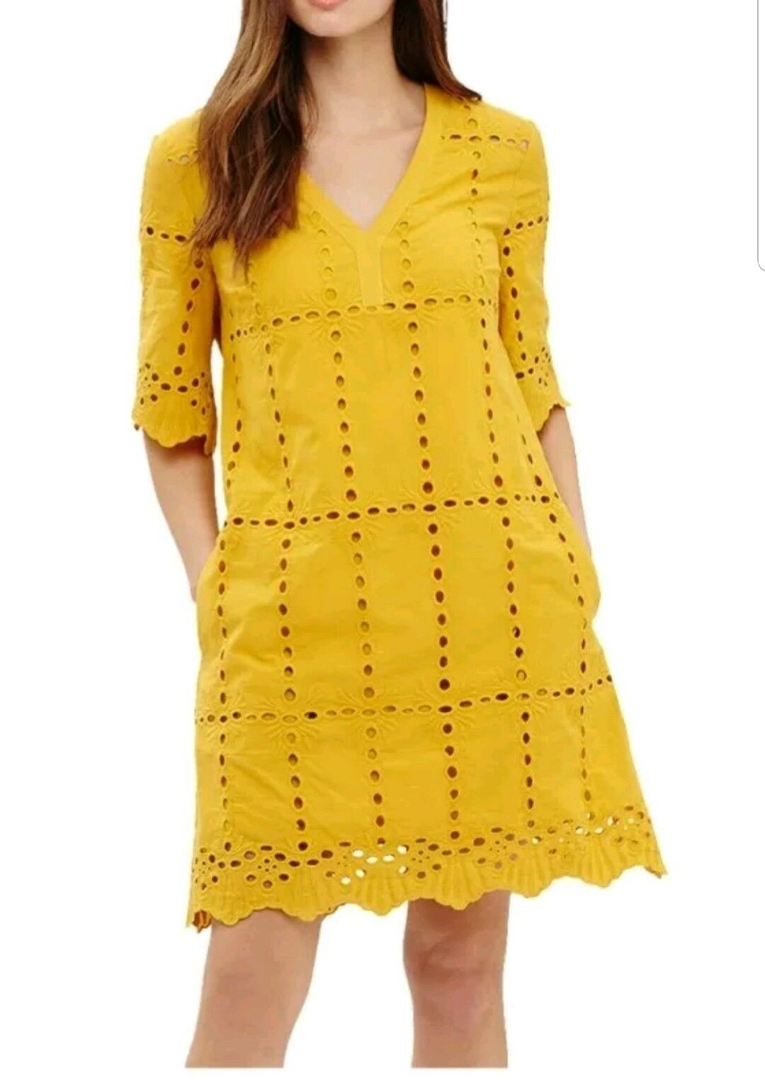 CL7Phase CL7Phase CL7Phase Eight Lilith Cotton Broderie Dress Chartreuse SIZE RRP edd11b