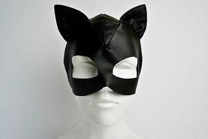 Catwoman-Superhero-Leather-Like-Female-Mask-Masquarade-Party-Mask-Cat-Woman