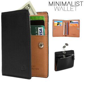 Mens-Leather-Bifold-Wallet-Minimalist-Slim-Design-with-Coin-Pocket-Multi-ID-Slot