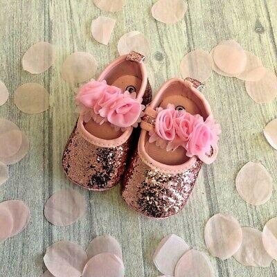 NEWBORN BABY GLITTER SHOES, Baby Girls