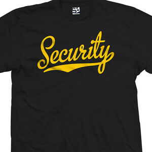 Security-Script-amp-Tail-Shirt-Officer-Bouncer-Team-Sports-All-Sizes-amp-Colors
