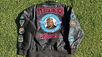 Tuskegee Airmen Leather Jacket 332 Redtails Us Air Force Military Style Coat 3x