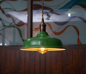 Industrial green porcelain pendant lamp shade green factory image is loading industrial green porcelain pendant lamp shade green factory aloadofball Gallery