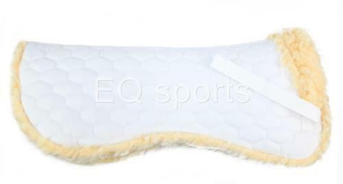 Luxurious Half Saddle Pad Cloth Numnah Faux Sheepskin Fleece Full Size White