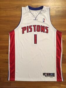 Details about 2005 Detroit Pistons Chauncey Billups Game Worn Jersey 52 2 issued used pro cut
