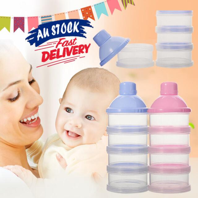 4 Layers Baby Milk Powder Feeding Case Box Formula Dispenser Food Container