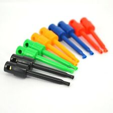 P4PM 10pcs Large Size Round Single Hook Clip Test Probe for Electronic Testing