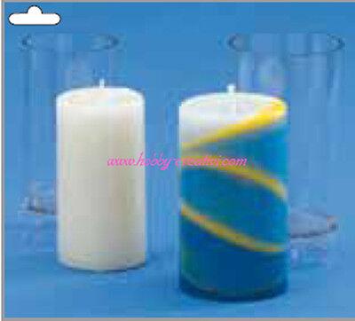 Stampo per candele stampo per candele cilindriche trasparenti Set di stampi per candele in plastica con punta per chiesa in plastica Stampi per candele per candele fatte in casa fai da te 2,5x15 cm