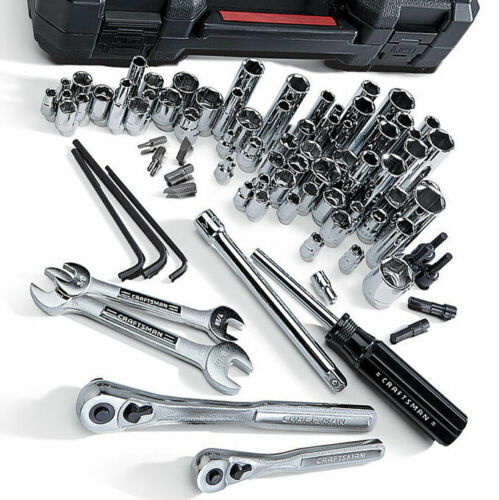 Mechanics Tool Set 6-Point Standard /& Deep Craftsman 108 Pc Inch /& Metric
