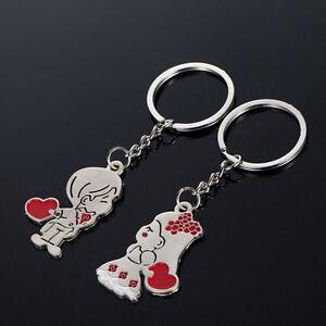 Couple-Gift-Key-Ring-Fob-Metal-Bride-Groom-Heart-Love-Keychain-1-Pair-kd