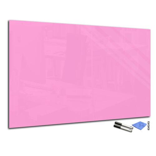Pizarra de pared magnética de cristal templado T01 60x80cm rosa claro