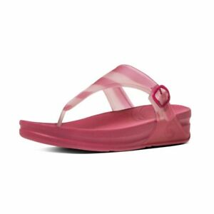 8a7130e326d7 Image is loading Fitflop-Women-Superjelly-with-Stripe-Open-Toe-Sandals-