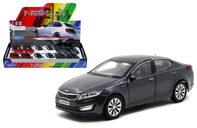 Welly 1 34 39 Cast Kia Optima K5 Car White Grey Model Collection Gift