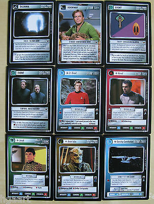 Star Trek CCG 1E Trouble With Tribbles Complete Common//Uncommon Card Set