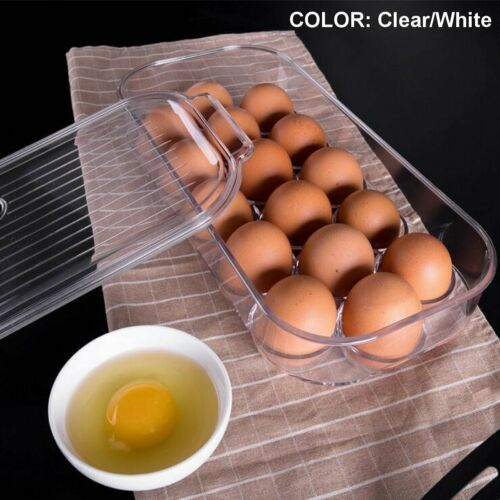 16 Grids PET Fresh Eggs Box Holder Case Refrigerator Food Storage