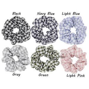 1 Plaid Check Hair Scrunchies for Women Hair Accessories Tartan ... ebfdb55e41c