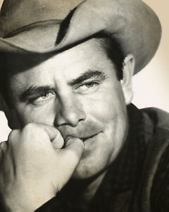 075d284feeff8 Image is loading GLENN-FORD-8x10-PICTURE-GREAT-COWBOY-HAT-WESTERN-