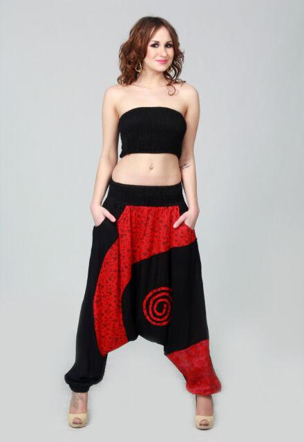 Pantalon Sarouel Femme  Bi color avec Large  Bande imprimé rèf. 773