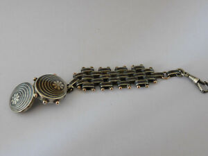 Catenella di orologio da tasca argento  niello silver  pocket  watch chain C226