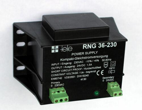~ 230V = 24V Gleichtstromversorgungvon Tele RNG 36-230 Trafo Netzteil
