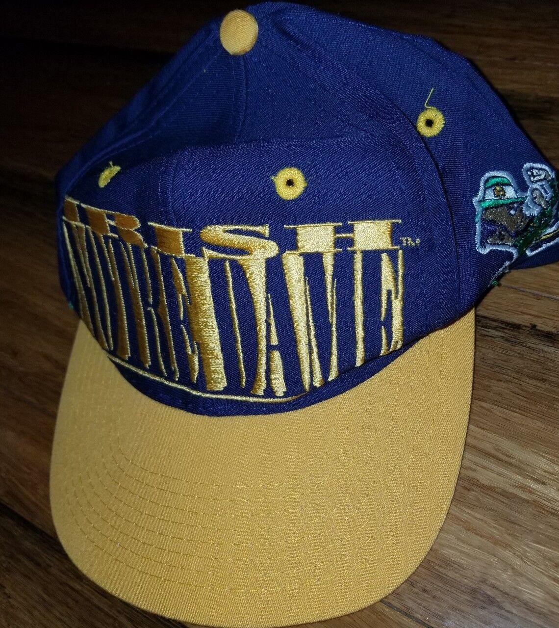 buy online 59581 a2e41 ... promo code for notre dame fighting irish 7 logo 7 irish vintage 90s hat  cap snapback