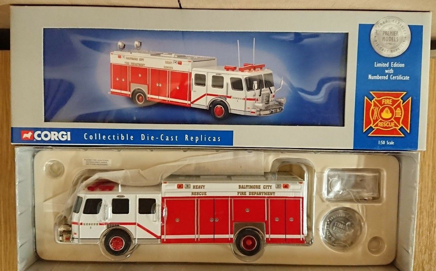 Corgi 52206 E-One Rescue Baltimore Ltd Edition No. 0001 of 4000