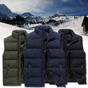 Herren-Winter-Weste-Steppweste-Outdoor-Daune-Weste-Armellos-Bodywarmer-M-6XL