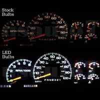 95-98 Chevy Tahoe Dash Speedometer Instrument Cluster Gauge White Led Lights Kit