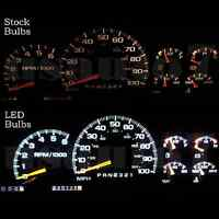 95-98 Chevy Tahoe Dash Speedometer Instrument Cluster Gauge White Led Lights Kit