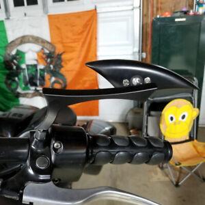 Black Blade Motorcycle Rearview Side Mirrors for Kawasaki Yamaha Suzuki Honda IA