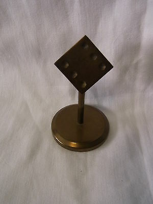 Mid Century 60´s German Brass CUBE Paperweight Desk Decoration #BY