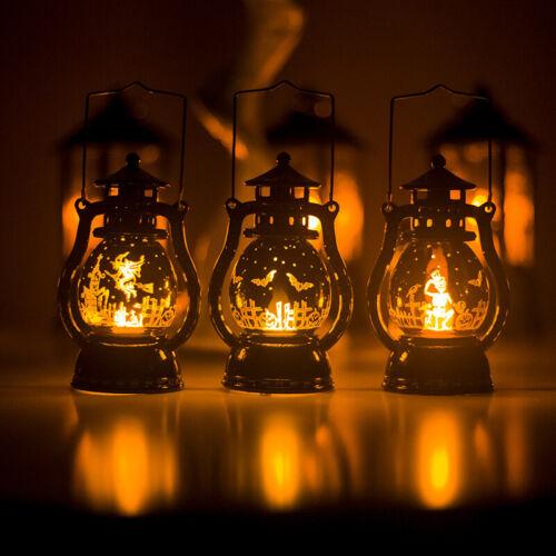 Halloween Pumpkin Witch Ghost Light Lamp Party Decor LED Lantern Hanging Decor