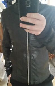 63fbe4291 Details about Rick Owens Leather Jacket