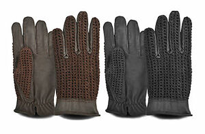 Mens-Driving-Gloves-Classic-Vintage-Top-Quality-Leather-Dress-Fashion-Retro
