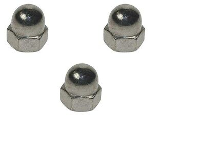 STAINLESS STEEL DOME NUTS FOR METRIC BOLTS M3,4,5,6,8,10,12,14,16,18,20 mm