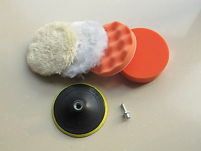 150mm Gross Polishing Buffing Pad Kit for Car Polishing with Drill Adapter - M14