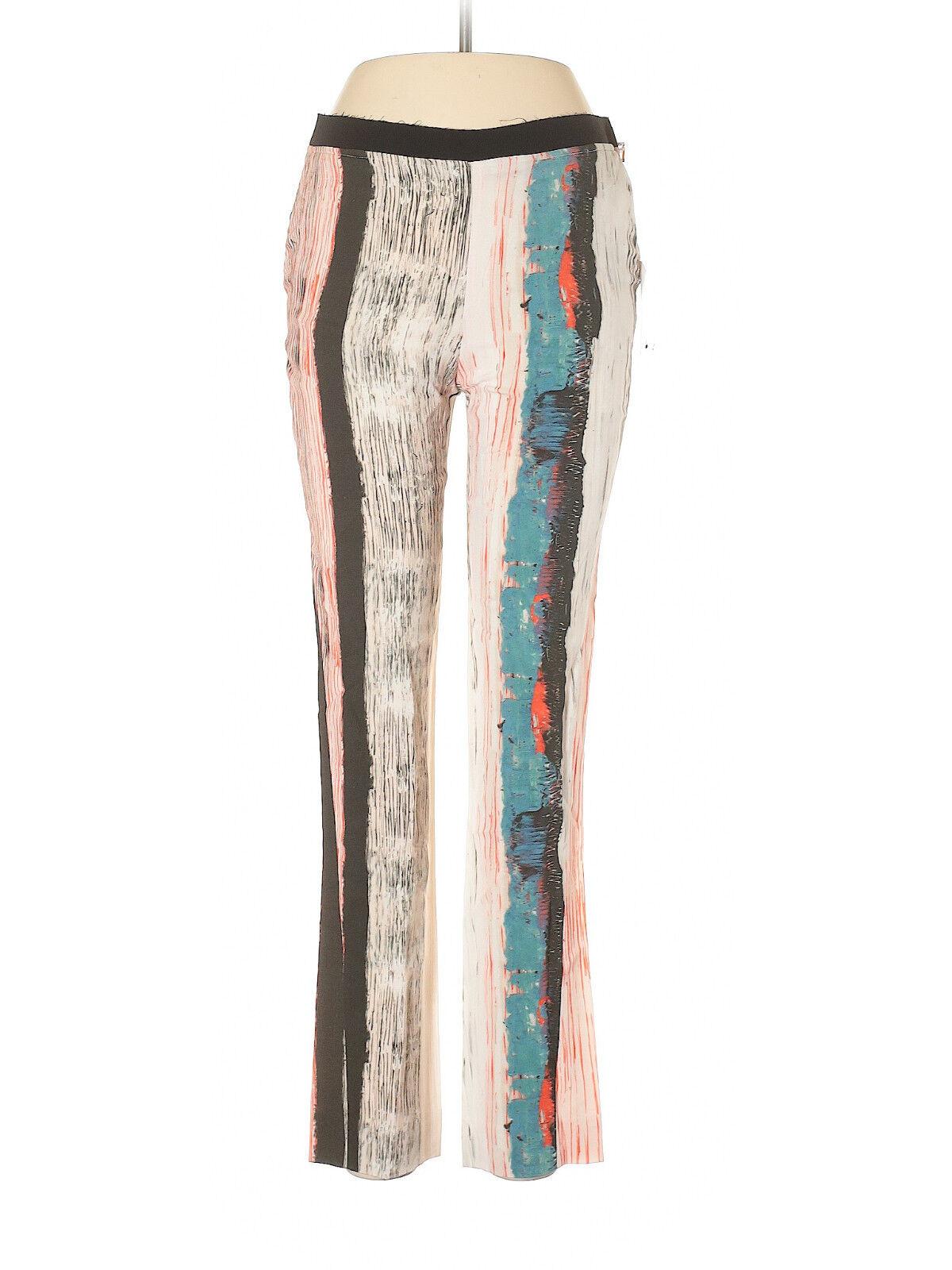Cedric Charlier white Trousers w  Splatter Print, Size 6 (US) 40 (IT) NWT   895