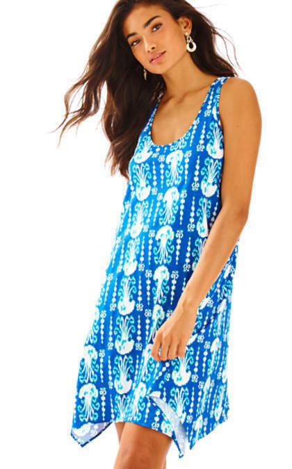 Neu Lilly Pulitzer Melle Kleid Indigo Bekomme in Line Blau Marineblau Weiß S-L